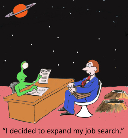 syndicated: I decided to expand my job search. Stock Photo