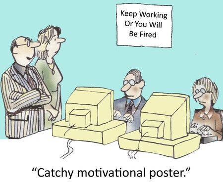 catchy:  Catchy motivational poster   Stock Photo