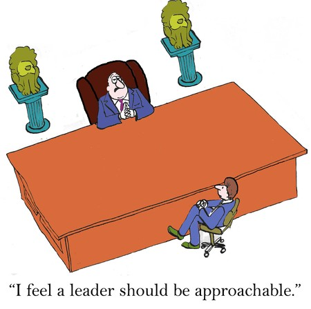 approachable: I feel a leader should be approachable  Stock Photo