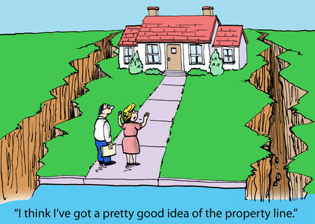 patching: A good idea of property line Stock Photo