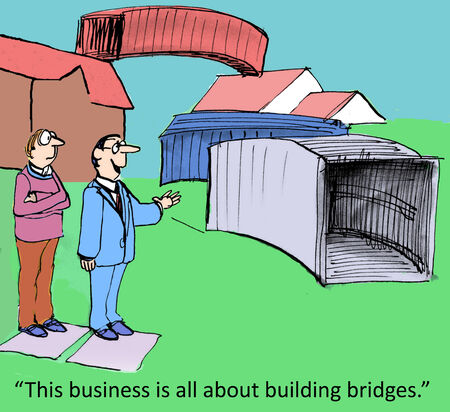 patching:  This business is all about building bridges