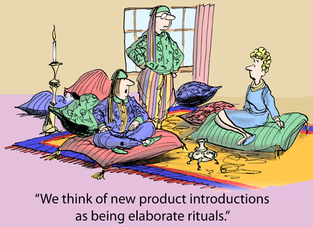 We think of new product introductions as being elaborate rituals