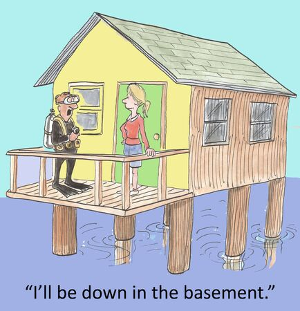 basement:  I ll be down in the basement