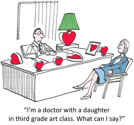 The heart doctor s daughter makes hearts Stock Photo - 24551040