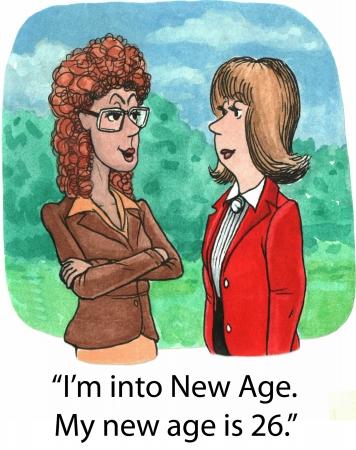 Mon nouvel âge Banque d'images - 23023123