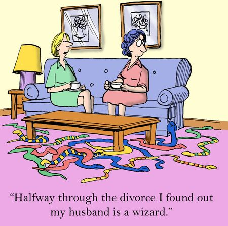 Halfway through the divorce I found out my husband is a wizard
