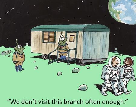 We don t visit this branch often enough   版權商用圖片