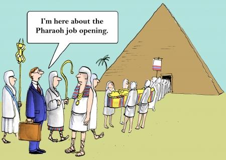 """""""Je suis sûr que le pharaon était un bon gars, mais j'ai mon propre style de leadership."""" Banque d'images - 24054546"""