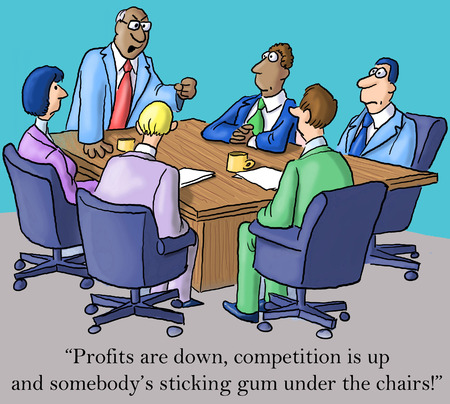 Profits are down, competition is up and somebodys sticking gum under the chairs. photo