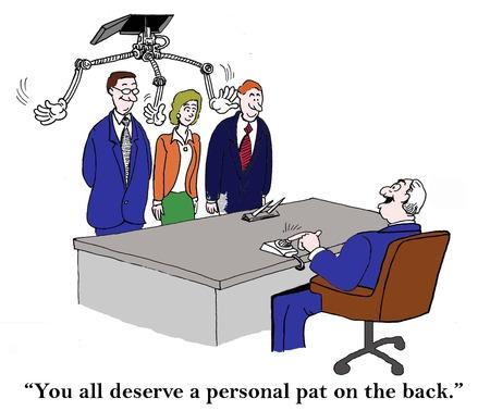 """""""Jullie verdienen allemaal een persoonlijk schouderklopje."""" Stockfoto"""