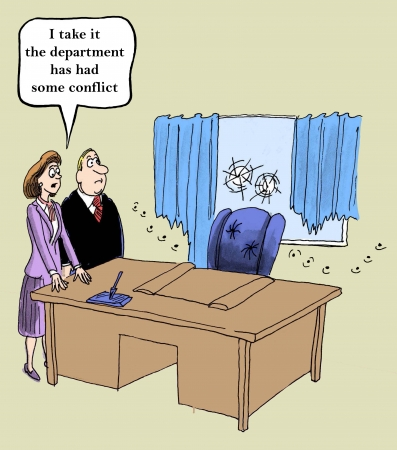 an applicant:  I take it the department has had some conflict