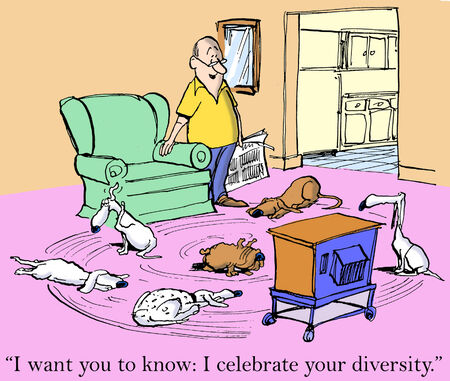 owning: I want you to know I celebrate your diversity. Stock Photo