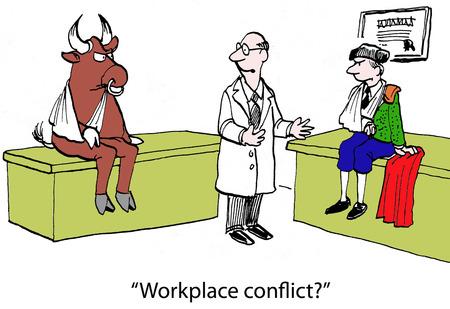 """""""Conflicto lugar de trabajo?"""" Foto de archivo - 24082505"""