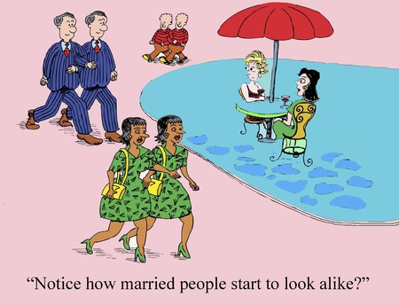 differentiation: Notice how married people start to look alike?