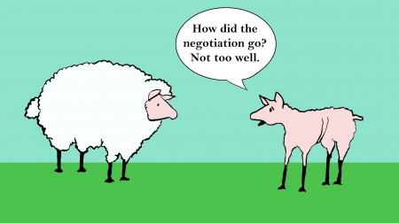 Hoe heeft de onderhandelingen gaan - niet al te goed Stockfoto - 24368630