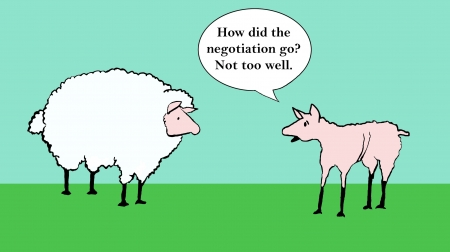 How did the negotiation go - not too well  photo