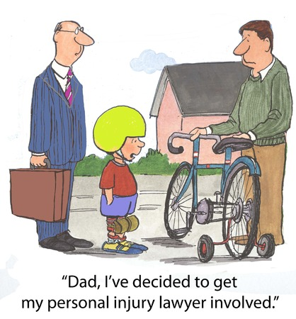 Dad, I ve decided to get my personal injury lawyer involved   Archivio Fotografico