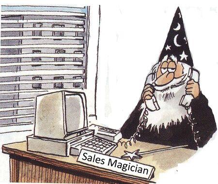 retailer: Sales Magician Stock Photo
