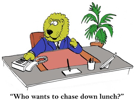 Who wants to chase down lunch?