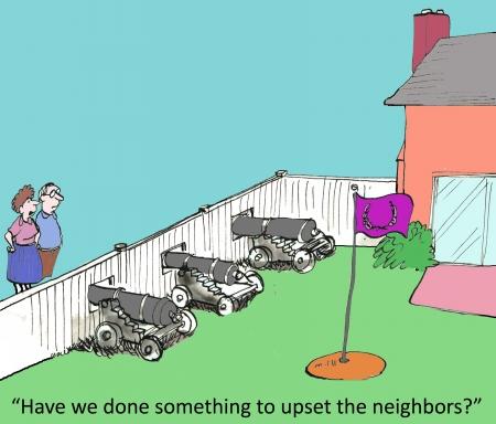 」をしてきた近所の人を動揺させる何か?」