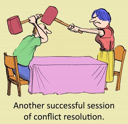 競合の解決の別の成功したセッション