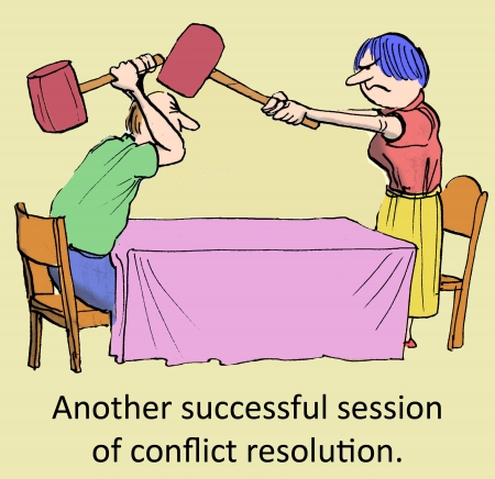 Another successful session of conflict resolution  Banque d'images