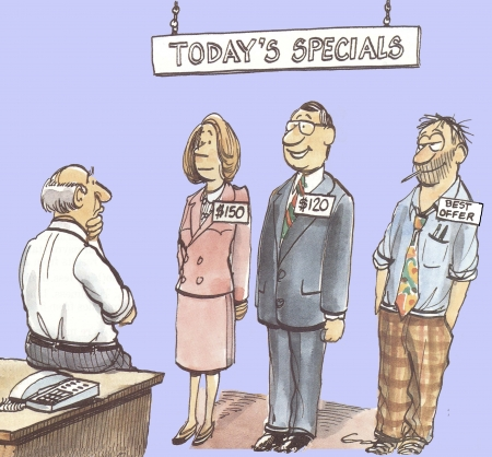 Job applicants are called  Today s Specials