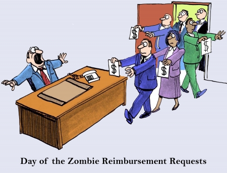 reimbursement: Day of the Zombie Reimbursement Requests