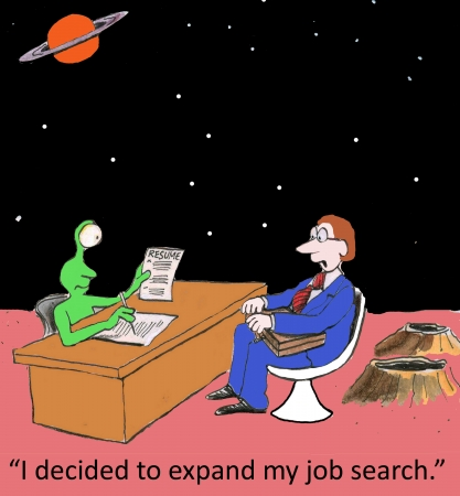 newspaper cartoons: I decided to expand my job search. Stock Photo