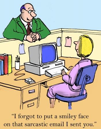 Niet meer tonen uw scherm, opdringerige baas Stockfoto - 24082840