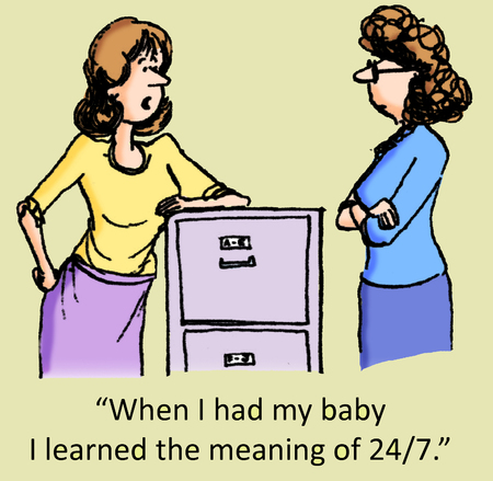 When I had my baby I learned the meaning of 247. photo