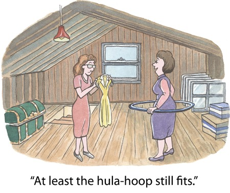 attic:  At least the hula-hoop still fits   Stock Photo