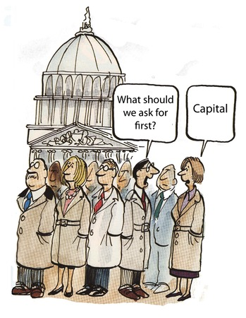 should: What should we ask for first  Capital  Stock Photo