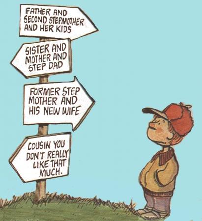 ブレンドされた家族の課題