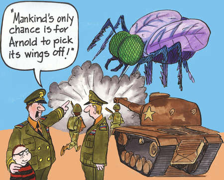 boy kid:  Mankind s only change is for Arnold to pick it s wings off   Stock Photo