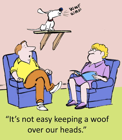 It s not easy keeping a woof over our heads   Stock fotó