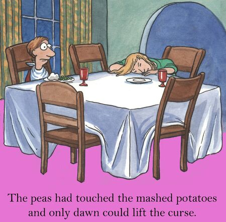 stubborn: The peas had touched the mashed potatoes and only dawn could lift the curse