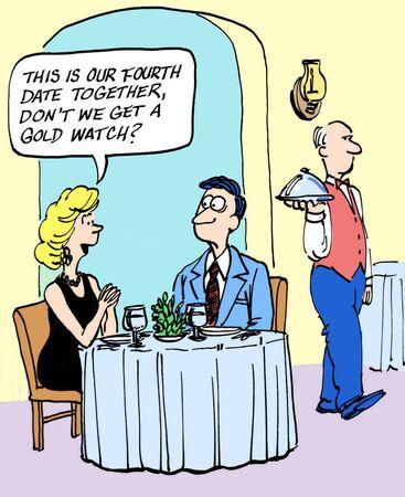 dinner date: No caption