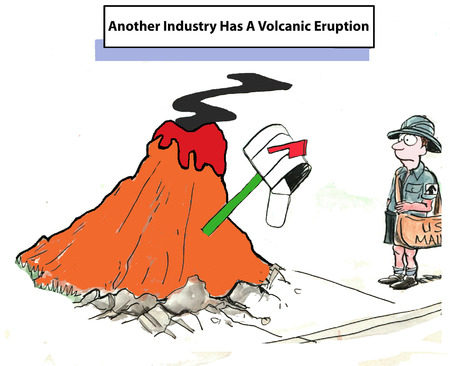 has: Another industry has a volcanic eruption