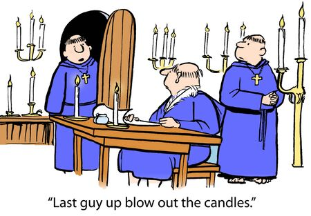 blow up: Last guy up blow out the candles