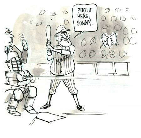 Senior Softball Game photo