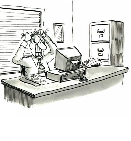 Computer Crashed           Banco de Imagens