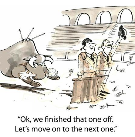 arrogancia: Mover a la siguiente toro Foto de archivo