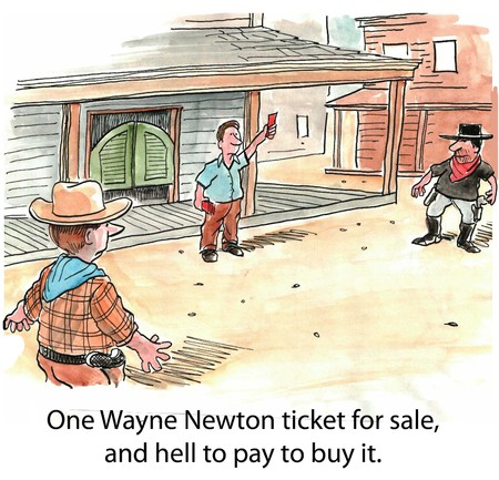 shooters: Gunfight for Wayne Newton ticket Stock Photo