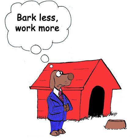 Bark less, work more photo