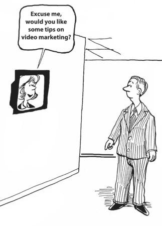 Entschuldigen Sie, würden Sie einige Tipps, Video-Marketing, wie Standard-Bild - 30094135