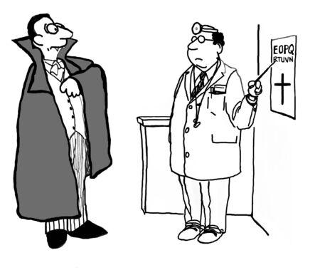 eye doctor: Vampire Scared of Cross Symbol