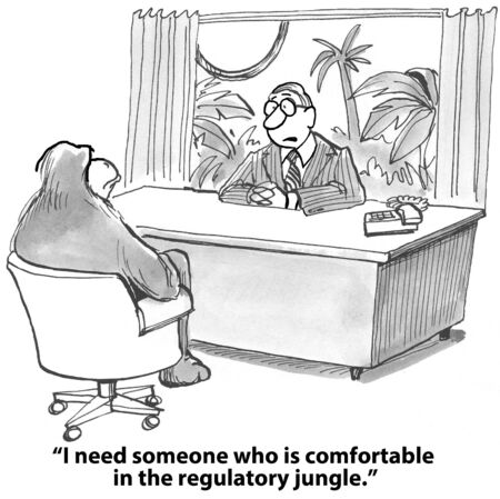 regulatory:  I need someone who is comfortable in the regulatory jungle   Stock Photo