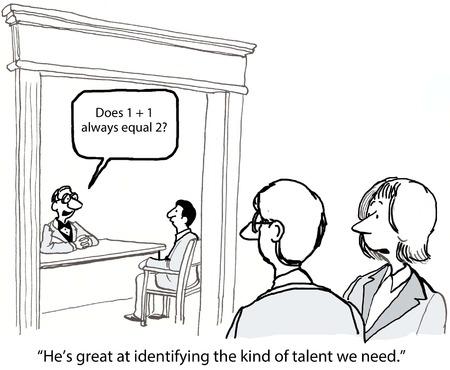director de escuela: Él es muy bueno para identificar el tipo de talento que necesitamos Foto de archivo