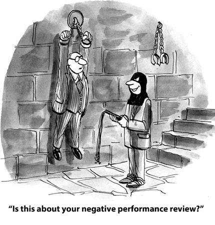 Is dit uw negatieve prestatie beoordeling Stockfoto
